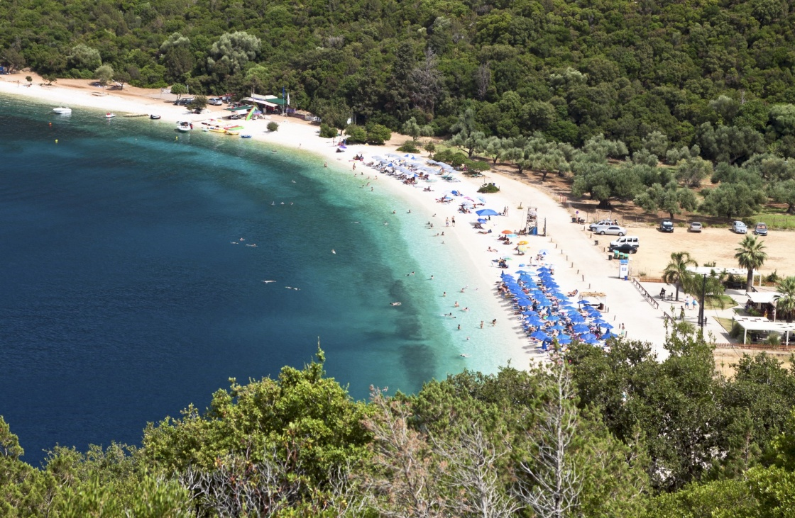 Beach of 'Antisamos' at Kefalonia island in Greece