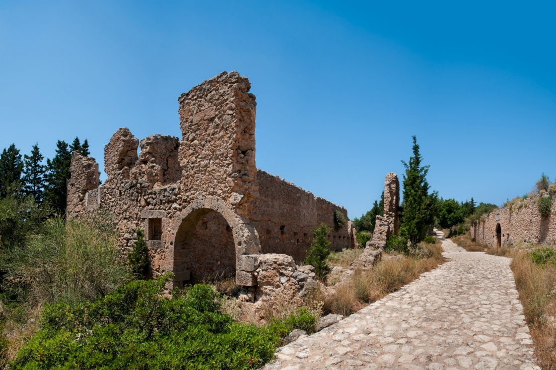Assos Castle on the Island of Kefalonia in Greece