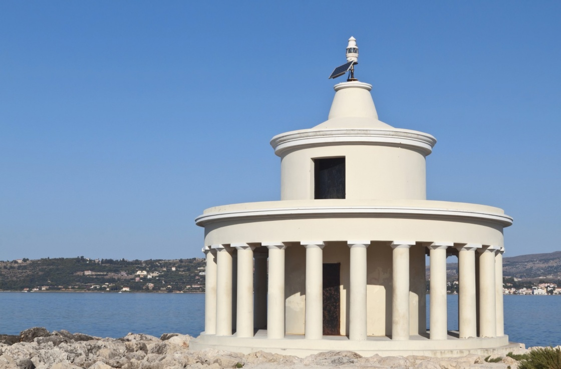 Lighthouse of St. Theodore at Argostoli of Kefalonia island in Greece